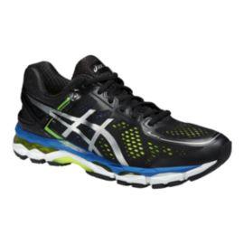 ASICS Men's Gel Kayano 22 Running Shoes - Black/Silver/Blue