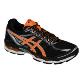 ASICS Men's Gel Evate 3 Running Shoes - Black/Silver/Orange