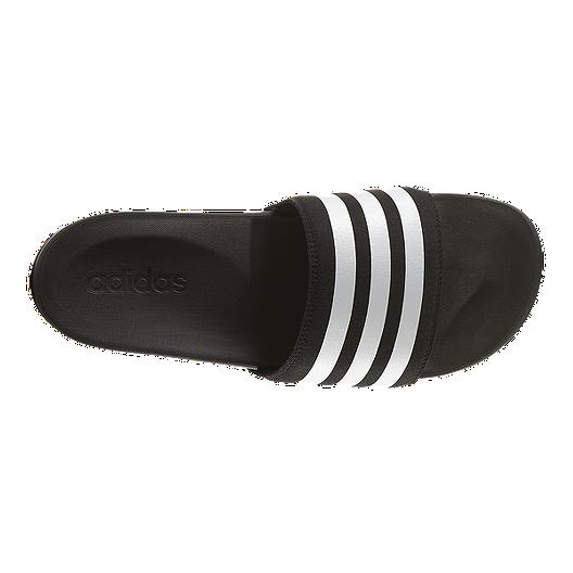3348f4066522f adidas Men s Adilette SuperCloud Plus Sandals - Black White. (10). View  Description