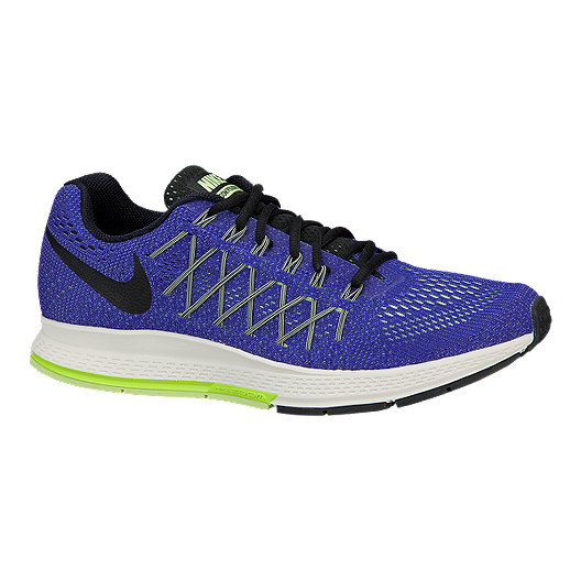 19fab5acdd72 Nike Men s Air Zoom Pegasus 32 Running Shoes - Blue Black Volt Green ...