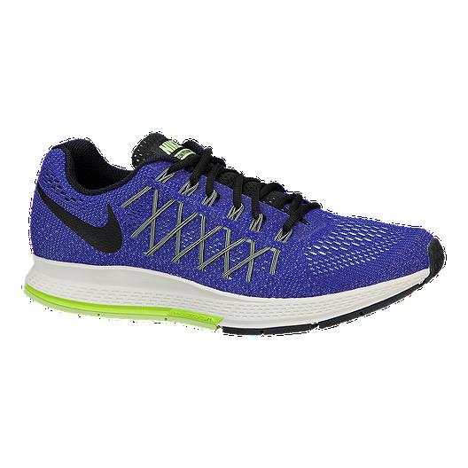 new product 27854 2cf7f Nike Men s Air Zoom Pegasus 32 Running Shoes - Blue Black Volt Green    Sport Chek