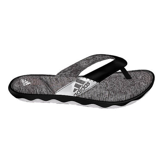 e57d6a09898 adidas Women s Anyanda Flex Thong Sandals - Black White Grey