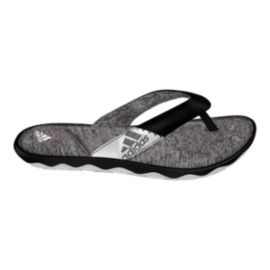 adidas Women's Anyanda Flex Thong Sandals - Black/White/Grey