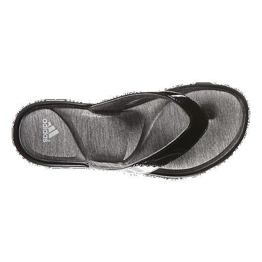 82da31536 adidas Women s Anyanda Flex Thong Sandals - Black White Grey. (5). View  Description