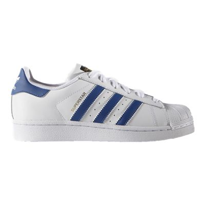 adidas Kids' Superstar Grade School Casual Shoes - White/Blue