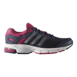 adidas Women's Lightster Cushion 2 Running Shoes - Navy Blue/Pink/Silver