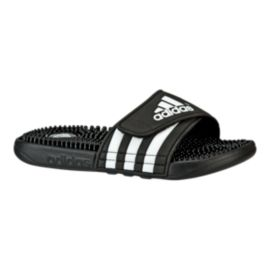 adidas Kids' Adissage Sandals - Black/White