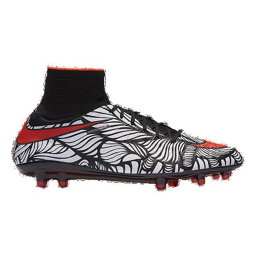 3255d4dc562 Nike Men s HyperVenom Phantom II NJR FG Outdoor Soccer Cleats - Black White  Pattern Red