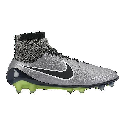 the latest 827b3 ba83c Nike Men s Magista Obra FG Outdoor Soccer Cleats - Silver Black Green    Sport Chek