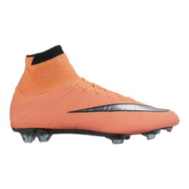 Nike Men's Mercurial SuperFly FG Outdoor Soccer Cleats - Orange/Silver