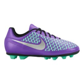 Nike Kids' Magista Ola FG Outdoor Soccer Cleats - Purple/Mint/Silver