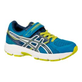 ASICS Kids Gel Contend 3 Grade School Running Shoes - Electric Blue/Lime