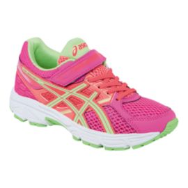 ASICS Girls' Gel Contend 3 Preschool Running Shoes - Pink/Coral