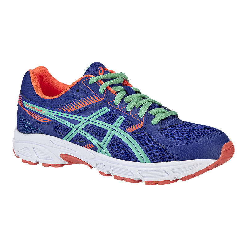 2c6af10bb50 ASICS Girls  Gel Contend 3 Grade School Running Shoes - Blue Coral ...