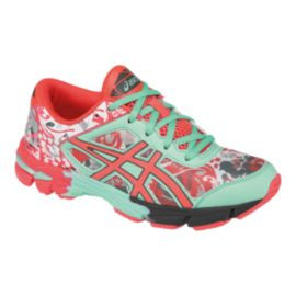ASICS Girls' Gel Noosa Tri 11 Grade School Running Shoes - White/Pink/Mint
