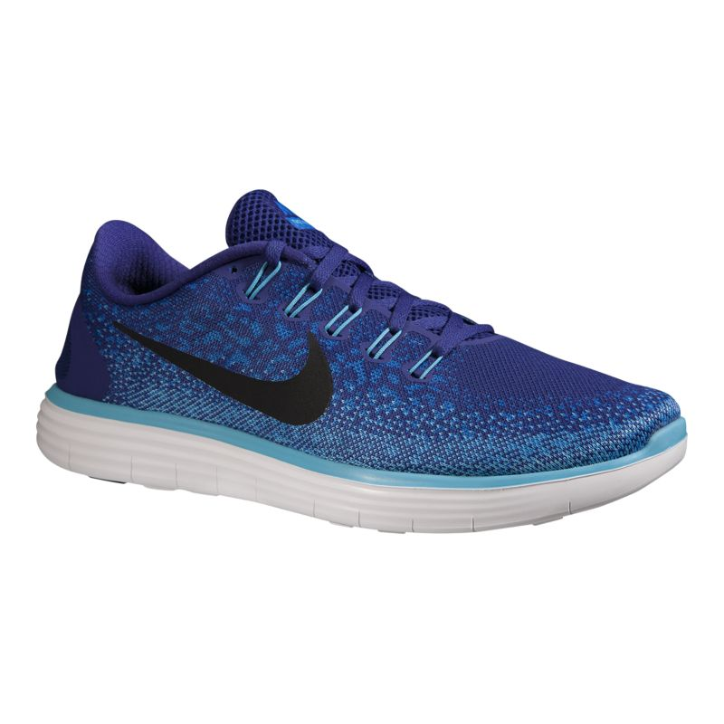 nike s free rn distance running shoes blue black
