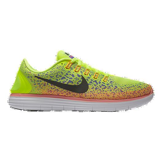 quality design c1f3b f7a18 Nike Men s Free RN Distance Running Shoes - Volt Green Orange   Sport Chek
