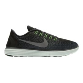 Nike Men's Free RN Distance Running Shoes - Black/Silver/Green