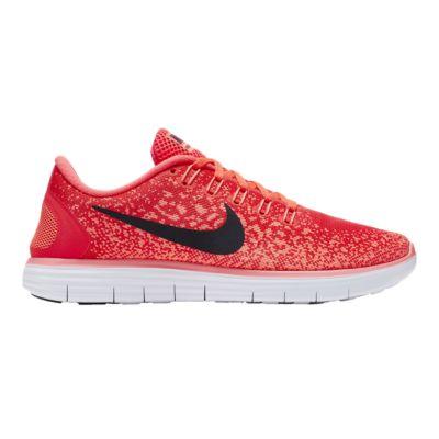 nike women s free run distance running shoes red orange black rh sportchek ca