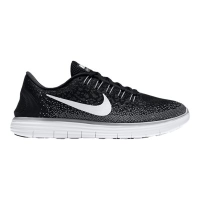 Nike Women's Free Run Distance Running Shoes - Black/White/Grey