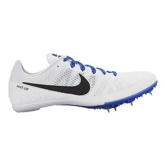 a013b61c4c8c2 Nike Men s Zoom Rival MD 8 Track   Field Shoes - White Blue Black ...