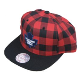 Toronto Maple Leafs Plaid Snapback Cap