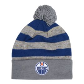 Edmonton Oilers Heathered Pom Cuffed Knit
