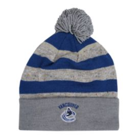 Vancouver Canucks Heathered Pom Cuffed Knit