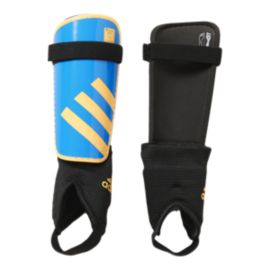 adidas Youth Ghost Shinguards - Solar Blue/Solar Gold