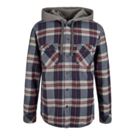 Quiksilver Snap Up Men's Long Sleeve Hooded Top