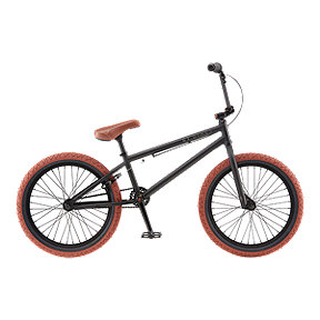 GT BK Matte Black BMX Bike 2016