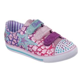 Skechers Twinkle Toes Chit Chat Girls' Toddler Casual Shoes