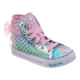 Skechers Twinkle Toes Shuffles Mid Bow Girls' Toddler Casual Shoes