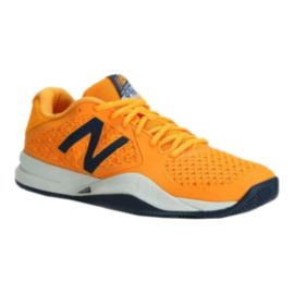 New Balance Men's 996v2 2E Wide Width Tennis Shoes - Orange/Navy/White