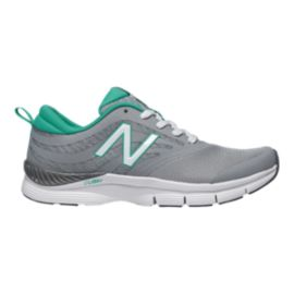 New Balance Women's 713 B Training Shoes - Grey/Teal/White