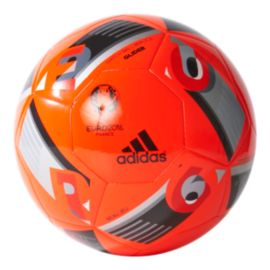 Adidas Euro 2016 Glider Size 3 Ball - Solar Red / Black