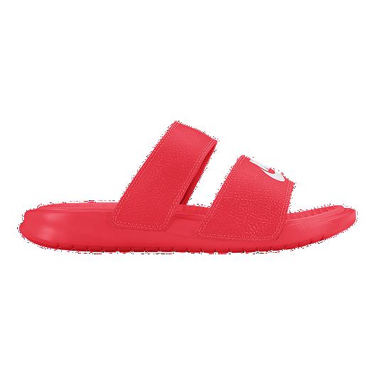 3a08713b1e45 Nike Women s Benassi Duo Ultra Slide Sandals - Red