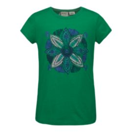 Roxy Girls' Big Medallion Basic Crew Tee