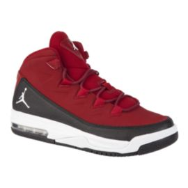 Nike Kids' Jordan Air Deluxe Grade School Basketball Shoes - Red/White/Black