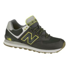 New Balance Men's ML574  Shoes - Grey/Yellow