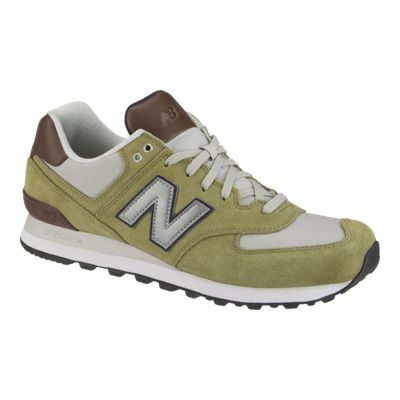 New Balance Men's ML574 Shoes - Green/Grey
