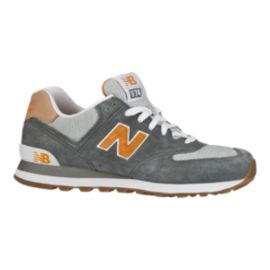 New Balance Men's ML574 Shoes - Grey/Orange