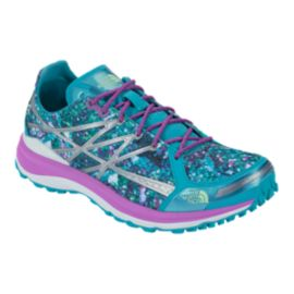 The North Face Women's Ultra TR II Trail Running Shoes - Blue/Purple/Silver