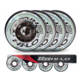 Bauer Hi-Lo Court 4 Pack 80mm 76A Inline Wheels