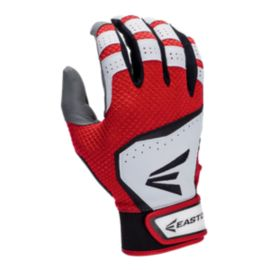 Easton HS VRS Hyperskin Batting Glove - White/Red