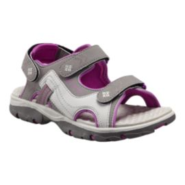 Columbia Girls' Castlerock Supreme Sandals - Grey/Pink
