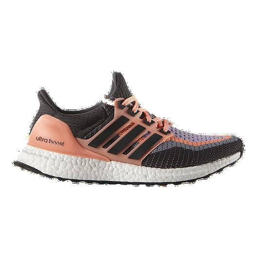 ce0b4fa42 adidas Women s Ultra Boost Running Shoes - Dark Grey Pink