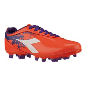 Diadora Women s Rush FG Outdoor Soccer Cleats - Orange Purple 0e32e719ca