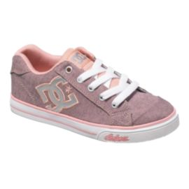 DC Girls' Chelsea Stud Grade-School Skate Shoes - Pink/Silver