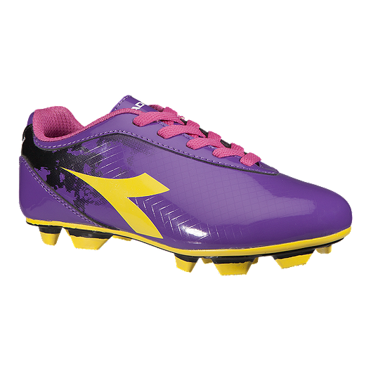 ad99dc92d4 Diadora Girl's Rush FG Outdoor Soccer Cleats - Purple/Yellow/Pink